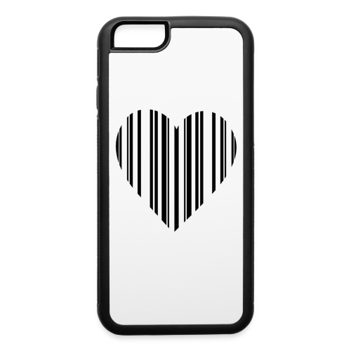 Bar Code Heart 6/6s Case - iPhone 6/6s Rubber Case