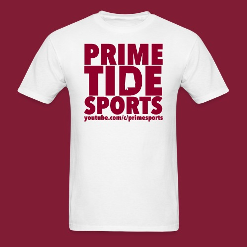 White Prime Tide Sports T-Shirt - Men's T-Shirt
