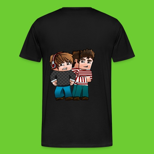 original shirt ( just with cool image on back) - Men's Premium T-Shirt