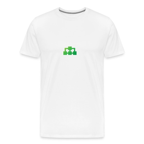 White logo shirt - Men's Premium T-Shirt