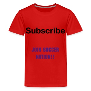 Kids Soccer Nation Shirt - Kids' Premium T-Shirt