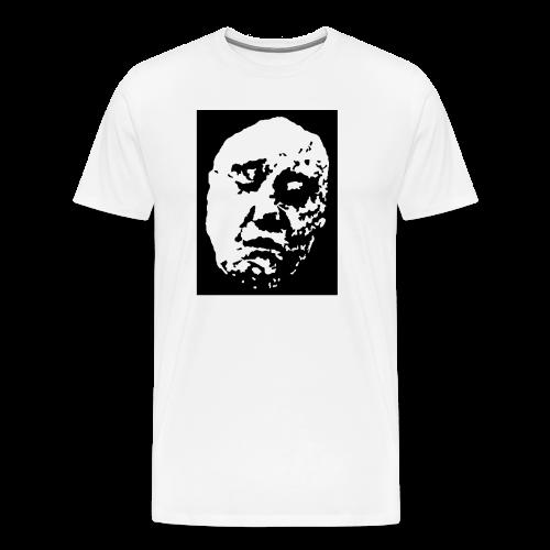 ZP Front Face Original Classic White 100% Cotton Tee - Men's Premium T-Shirt