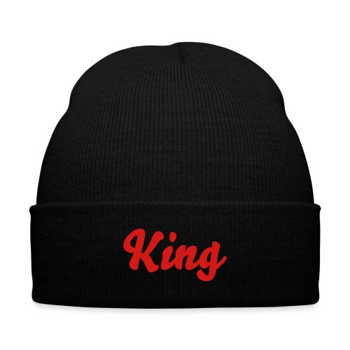 king Beanie - Knit Cap with Cuff Print