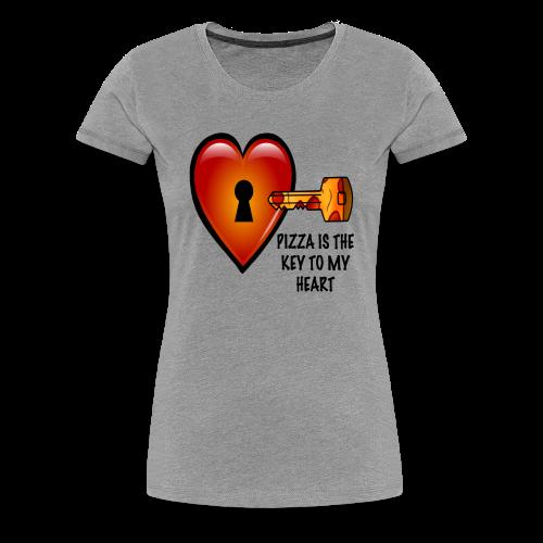 Pizza Is The Key To My Heart Women's Tee - Women's Premium T-Shirt