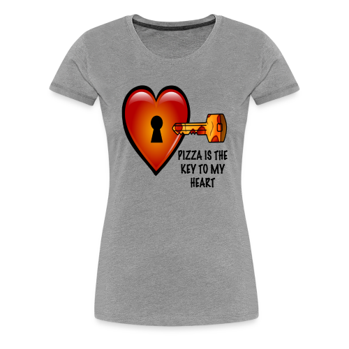 Pizza Is The Key To My Heart Women's Tee - Women's Premium T-Shirt