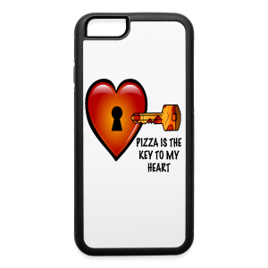 Pizza Is The Key To My Heart iPhone 6/6s Rubber Case - iPhone 6/6s Rubber Case