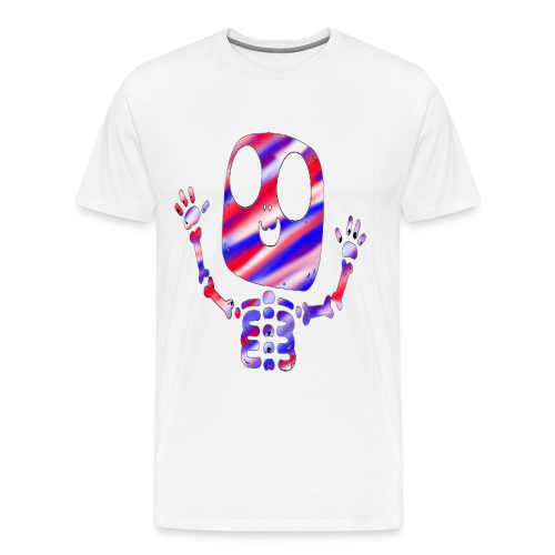 Patriotic Skeleton Tee - Men's Premium T-Shirt