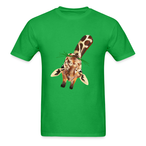 Upside down Giraffe - Men's T-Shirt
