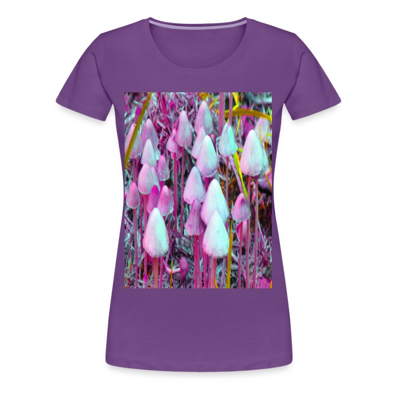 Pink Psychedelic Mushrooms - Women's Premium T-Shirt