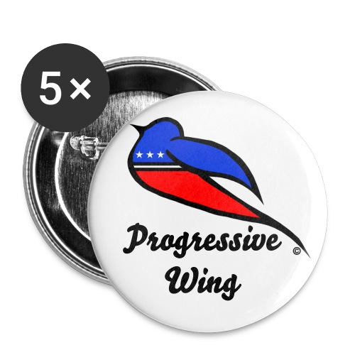 Progressive Wing Button 5-pack - Large Buttons