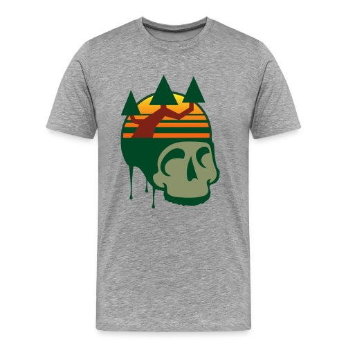 Graphite Skull - Men's Premium T-Shirt