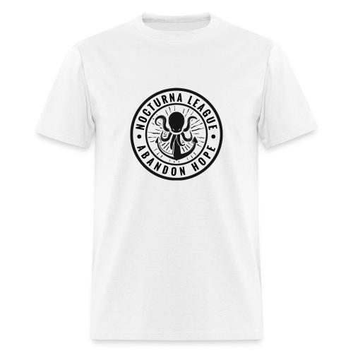 Nocturna League Abandon Hope - White T-Shirt Loose Fit - Men's T-Shirt