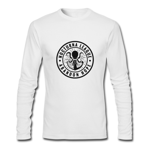 Nocturna League Abandon Hope - White Long Sleeved - Men's Long Sleeve T-Shirt by Next Level