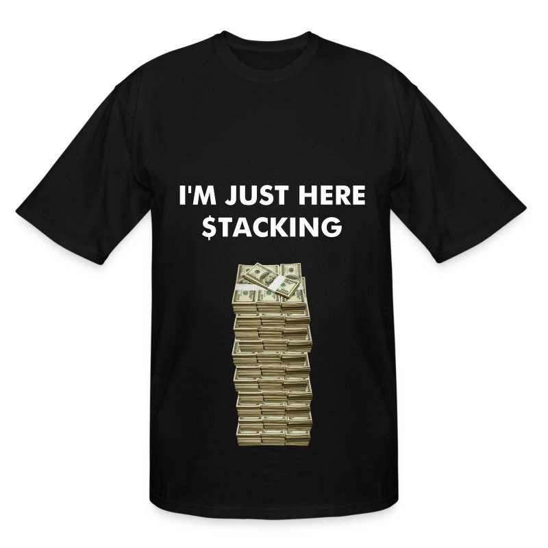 Tower of Stacked Money - Men's Tall T-Shirt