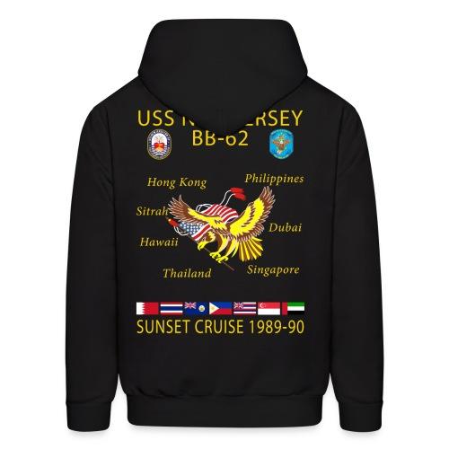 USS NEW JERSEY 1989-90 CRUISE HOODIE - Men's Hoodie