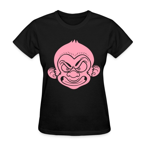 Dapp'd Monkey Black/Pink - Women's T-Shirt