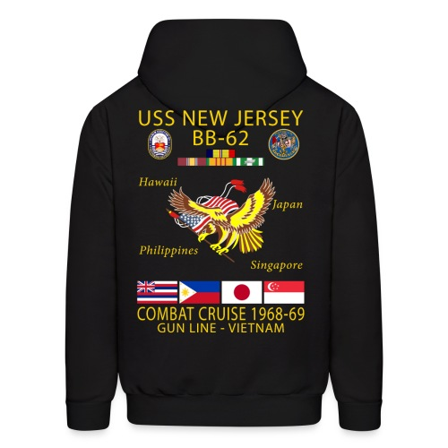 USS NEW JERSEY 1968-69 CRUISE HOODIE - Men's Hoodie