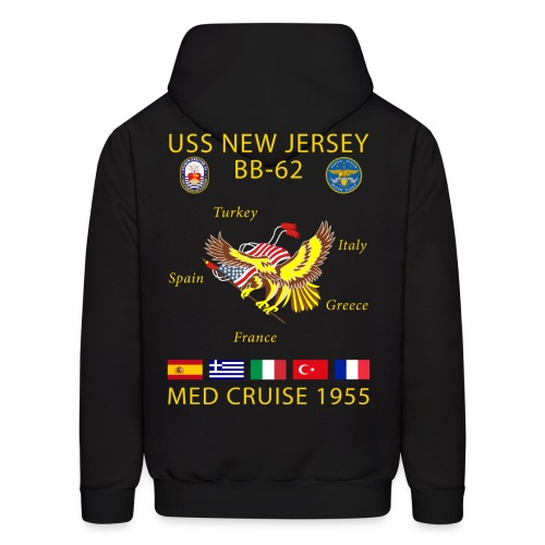 USS NEW JERSEY 1955 CRUISE HOODIE - Men's Hoodie