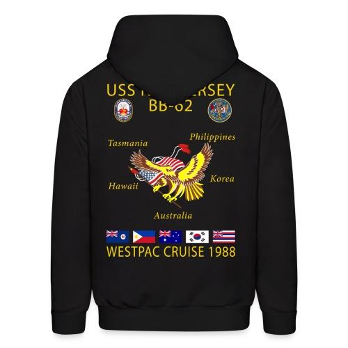 USS NEW JERSEY 1988 CRUISE HOODIE - Men's Hoodie