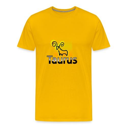 Yellow Taurus - Men's Premium T-Shirt