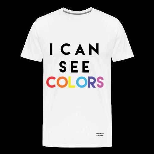 I Can See COLORS Men's T-Shirt - Men's Premium T-Shirt