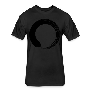 Black Enso - Fitted Cotton/Poly T-Shirt by Next Level