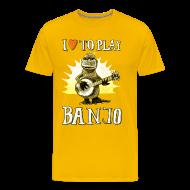 T-Shirts ~ Men's Premium T-Shirt ~ I love to play banjo