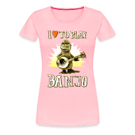 Women's T-Shirts ~ Women's Premium T-Shirt ~ I love to play banjo