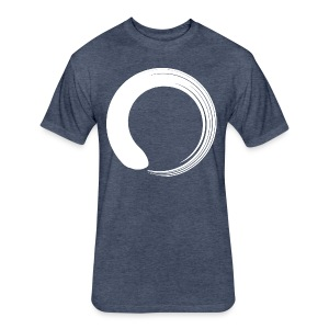 White Enso - Fitted Cotton/Poly T-Shirt by Next Level