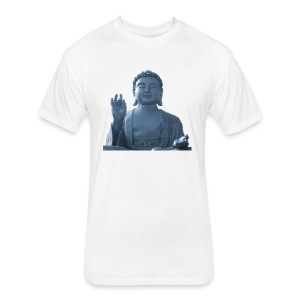 Honeycomb Buddha - Fitted Cotton/Poly T-Shirt by Next Level