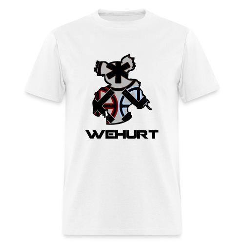 WeHurt - Black on White - Men's T-Shirt
