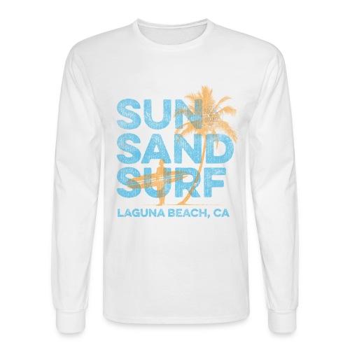 Sun, Sand, Surf - Laguna Beach Long Sleeve T-shirt - Men's Long Sleeve T-Shirt