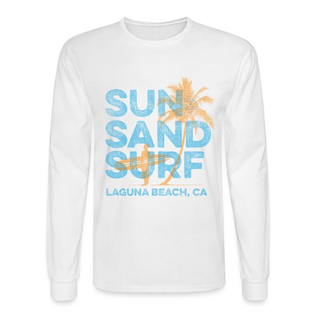 09e4ea443defb3 SoCal Brand | Sun Sand Surf - Laguna Beach Long Sleeve T-shirt ...