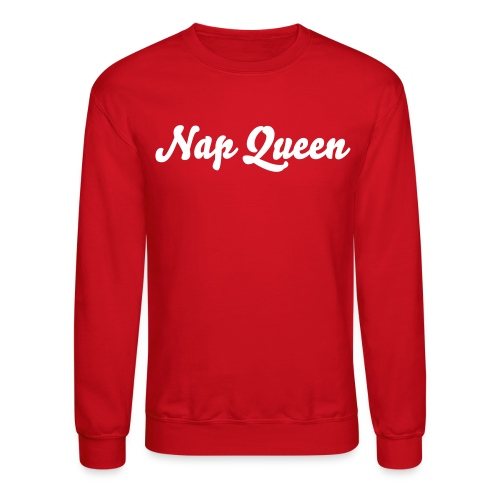 Nap Queen (red) - Crewneck Sweatshirt