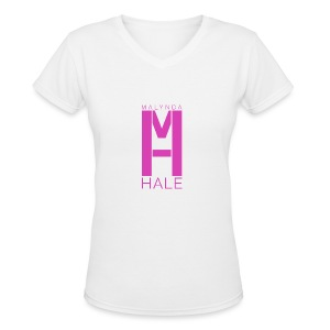 Malynda Hale Logo  Shirt - Women's V-Neck T-Shirt