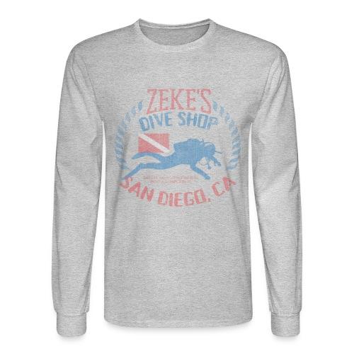 Zeke's Dive Shop, San Diego Long Sleeve T-shirt - Men's Long Sleeve T-Shirt