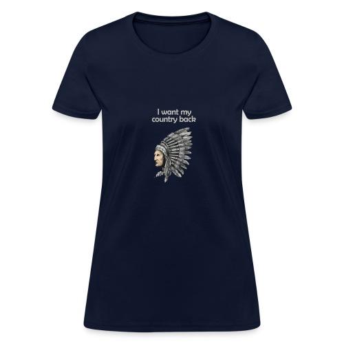 Presidential Election T-Shirt ( Angry Native Ameri - Women's T-Shirt