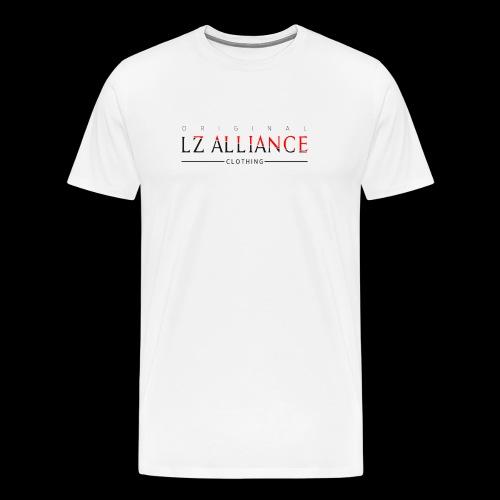 Lz Clothing Line, Red/ White - Men's Premium T-Shirt