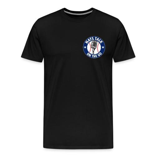 Mic and Baseball (Navy) - Men's Premium T-Shirt