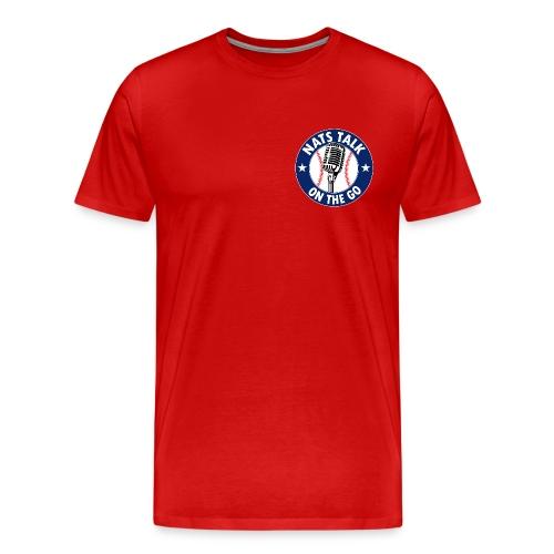 Mic and Baseball (Red) - Men's Premium T-Shirt