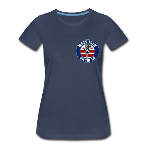 Mic and DC Flag (Navy - women) - Women's Premium T-Shirt