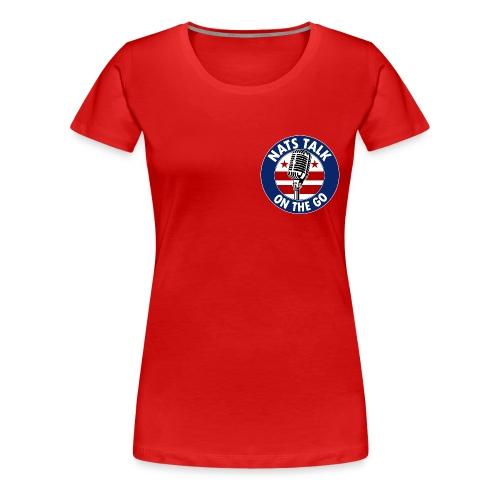 Mic and DC Flag (Red - women) - Women's Premium T-Shirt