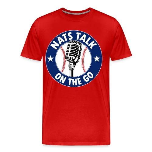 Large Mic and Baseball (Red) - Men's Premium T-Shirt