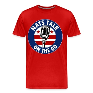 Large Mic and DC Flag (Red) - Men's Premium T-Shirt