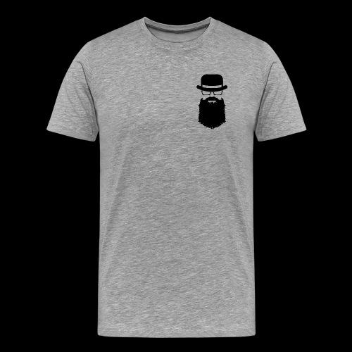 Manhood OG/back black logo  - Men's Premium T-Shirt