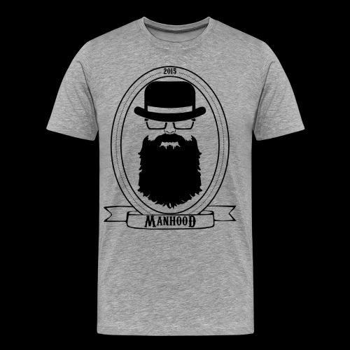 Manhood OG/front black logo  - Men's Premium T-Shirt