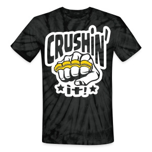 Crushin' it! Brass Knuckles - Unisex Tie Dye T-Shirt
