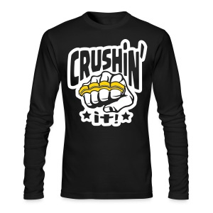 Crushin' it! Brass Knuckles - Men's Long Sleeve T-Shirt by Next Level