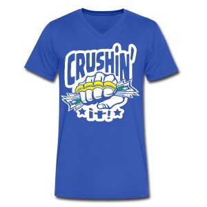 Crushin' it! Brass Knuckles - Men's V-Neck T-Shirt by Canvas