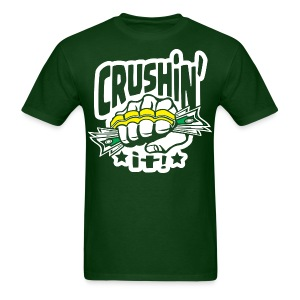 Crushin' it! Brass Knuckles - Men's T-Shirt